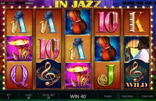 Комбинация с диким знаком в автомате In Jazz