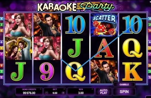 Выигрышная комбинация в автомате Karaoke Party