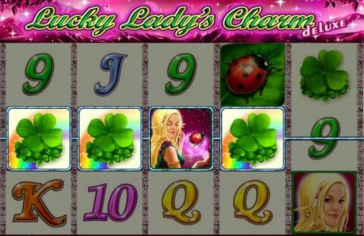 Выигрышная комбинация символов автомата Lucky Lady's Charm Deluxe