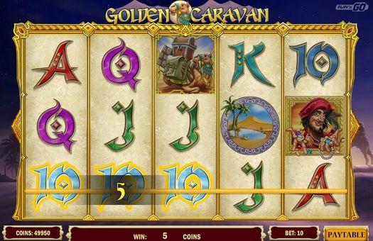 Выигрышная комбинация символов в Golden Caravan