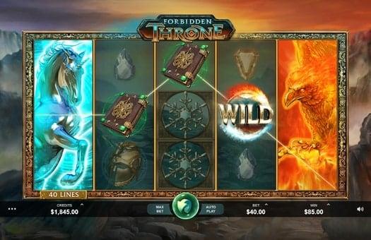 Дикие символы в игровом аппарате Forbidden Throne