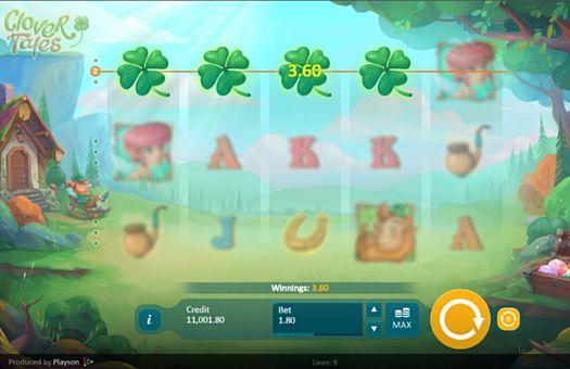 Призовая комбинация на линии в игровом автомате Clover Tales