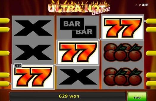 Максимальная выигрышная комбинация в игровом автомате Ultra Hot Deluxe