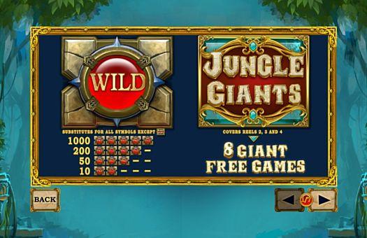 Описание дополнительных символов в онлайн слоте Jungle Giants
