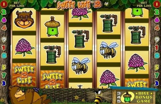 Выпадение символов в онлайн автомате Sweet Life 2