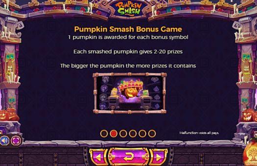 Правила бонусной игры в Pumpkin Smash онлайн