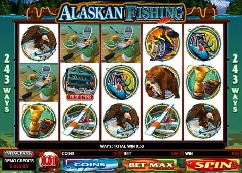 Выигрышная комбинация в слоте Alaskan Fishing